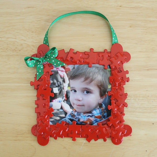 Beautiful Homemade Christmas ornaments Puzzle Piece Frame Buggy Picture Frame Crafts for Kids Of Adorable 48 Models Picture Frame Crafts for Kids