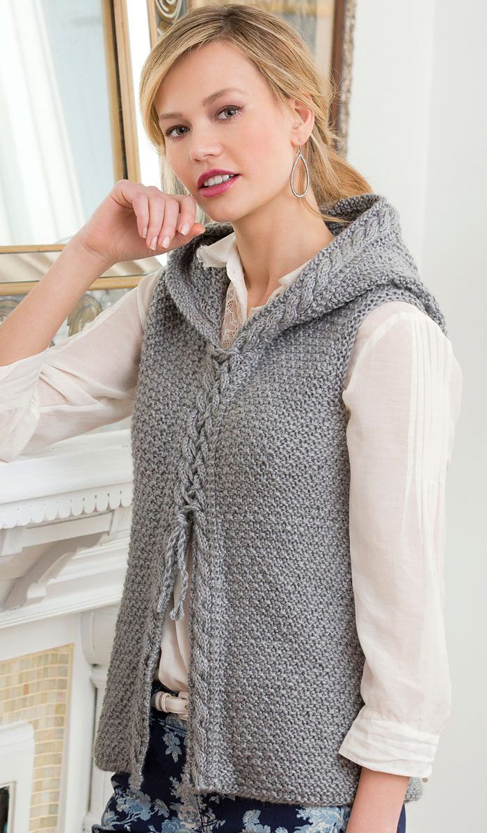 Beautiful Hoods and Hoo S Knitting Patterns Knitted Vest Of Great 48 Pics Knitted Vest