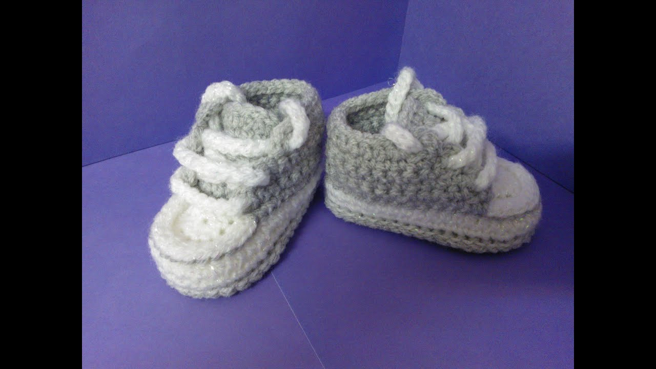 Beautiful How to Crochet My Easy New Born Baby Converse Style Crochet Converse Slippers Of Amazing 40 Ideas Crochet Converse Slippers