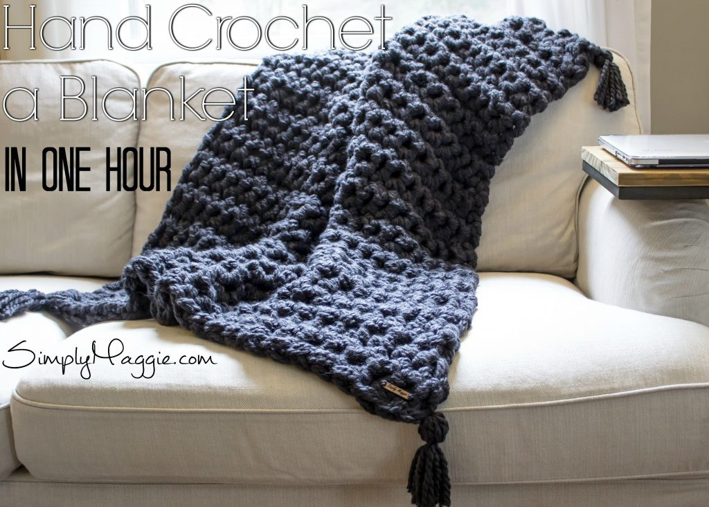 How to Hand Crochet a Blanket in e Hour
