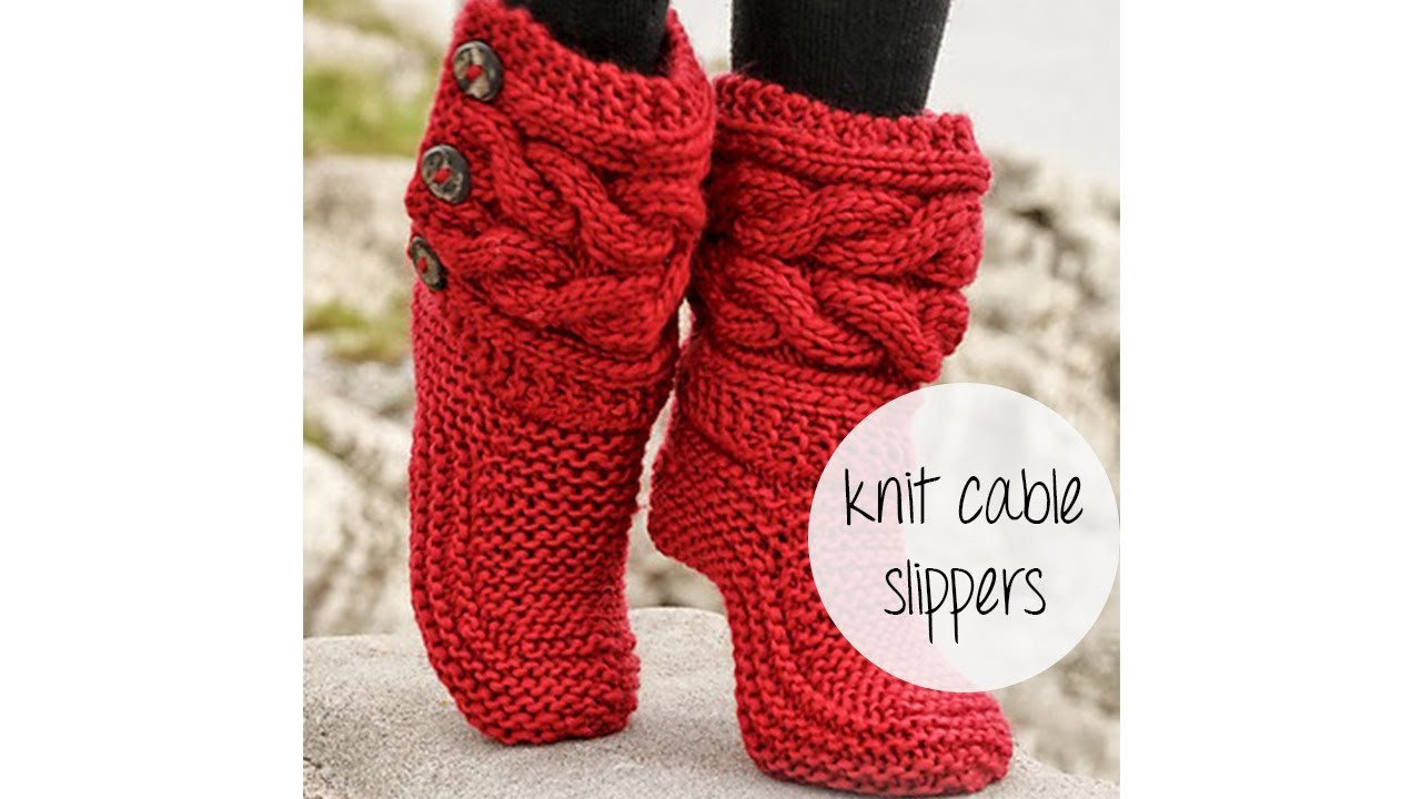 Beautiful How to Knit Cable Slippers Knitted Slipper Boots Of Superb 41 Pics Knitted Slipper Boots