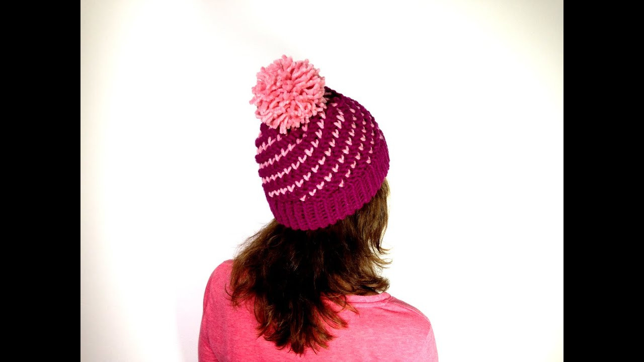 Beautiful How to Loom Knit A Bicolor Mini Hearts Spiral Hat Diy Making A Hat On A Loom Of Attractive 43 Pics Making A Hat On A Loom