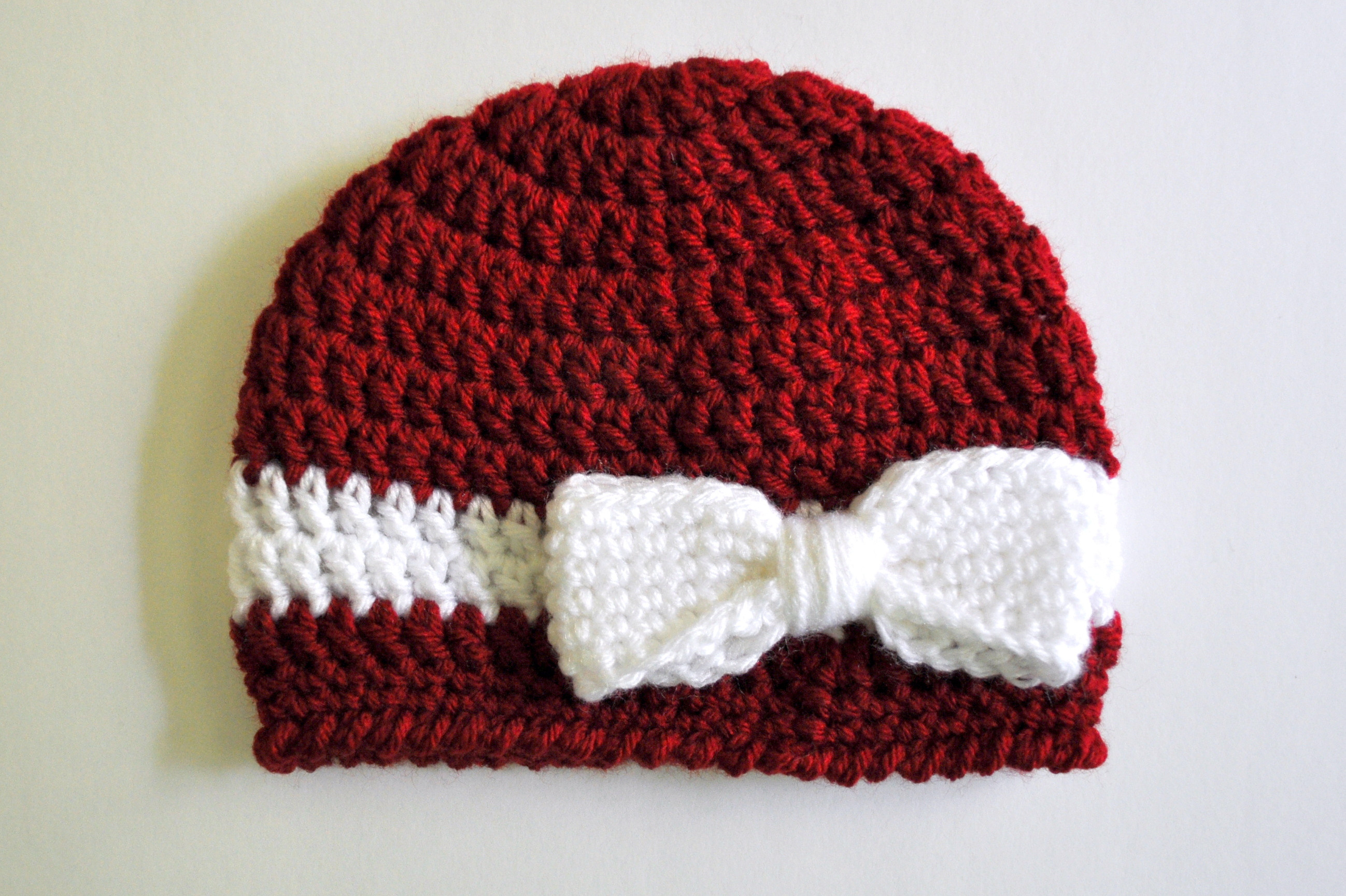 How to make a crochet baby beanie pattern in one sitting