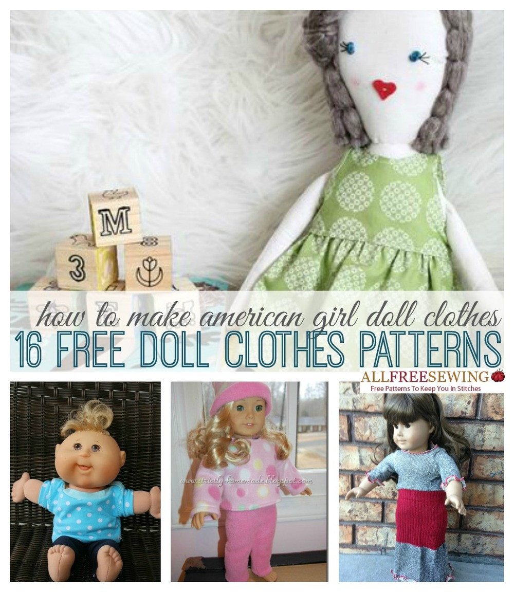 Beautiful How to Make American Girl Doll Clothes 16 Free Doll Free American Girl Doll Clothes Patterns Of Lovely 49 Models Free American Girl Doll Clothes Patterns