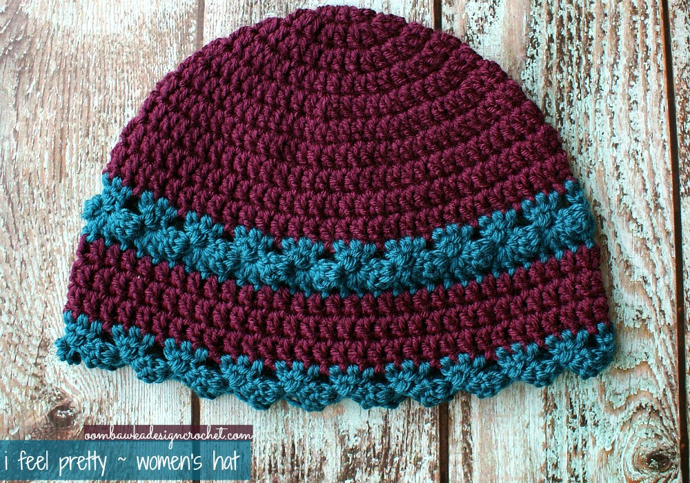 Beautiful I Feel Pretty Women S Crochet Hat • Oombawka Design Crochet Double Crochet Hat Of Great 43 Models Double Crochet Hat