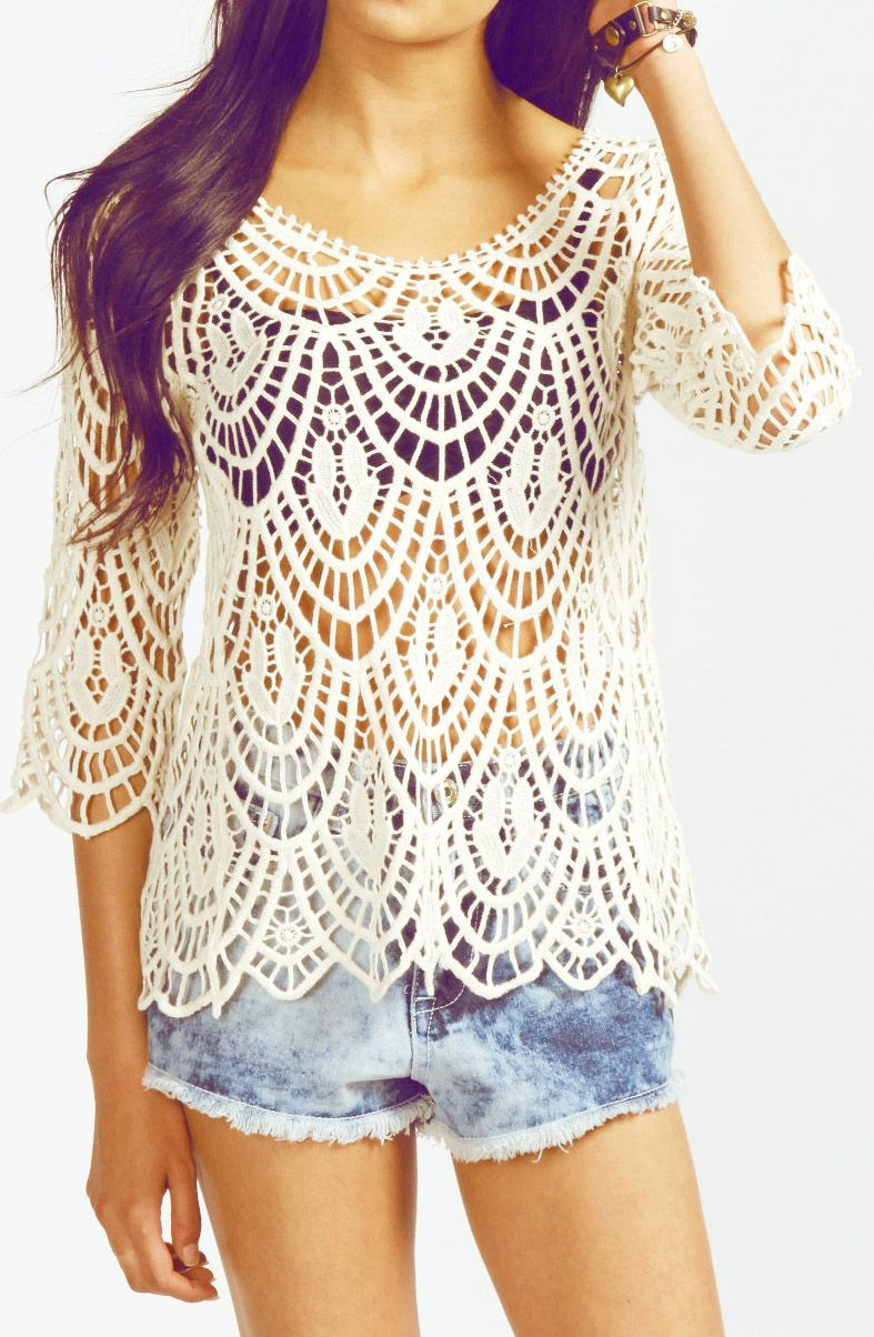 Beautiful I Love the Crochet Shirt but Needs A Shirt Under ♪ ♪ Crochet Shirts Of Brilliant 43 Ideas Crochet Shirts