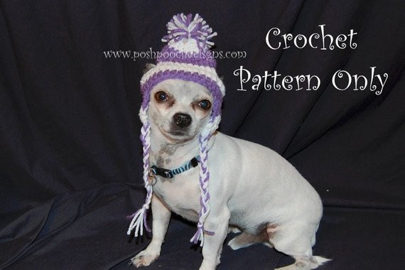 Beautiful Instant Download Crochet Pattern Earflap Dog Hat Small Dog Crochet Dog Hat Of Marvelous 45 Pictures Crochet Dog Hat