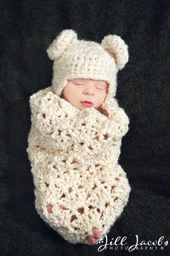 Beautiful Items Similar to Cream Swirls Cocoon Crochet Pattern Crochet Baby Cocoon Of Great 44 Models Crochet Baby Cocoon