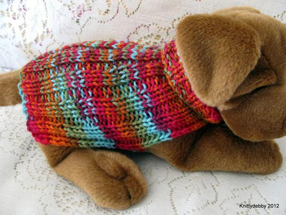 Beautiful Items Similar to Hand Knit Dog Sweater Easy Fit Ribbing Easy Knit Dog Sweater Of Charming 49 Ideas Easy Knit Dog Sweater
