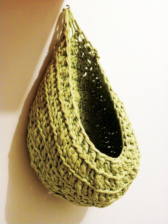 Beautiful Items Similar to Hanging Crochet Basket Available In Crochet Hanging Basket Of Awesome 47 Photos Crochet Hanging Basket