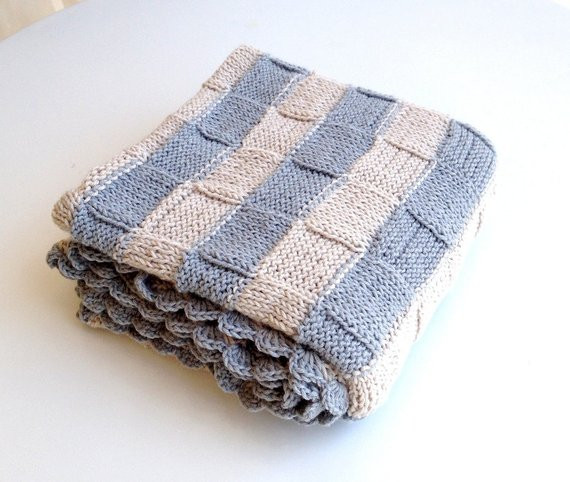 Beautiful Items Similar to Knit Baby Blanket Hand Knitted Baby Basket Weave Baby Blanket Of Contemporary 41 Images Basket Weave Baby Blanket