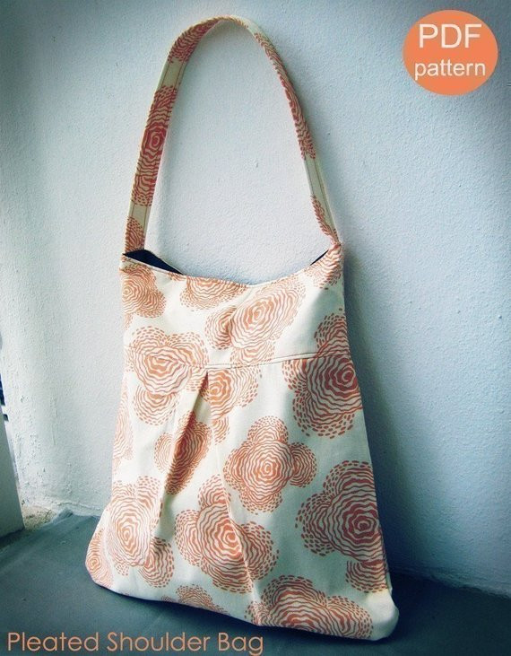 Beautiful Items Similar to Pleated Shoulder Bag Pdf Sewing Pattern Shoulder Bag Patterns Of Contemporary 47 Pictures Shoulder Bag Patterns