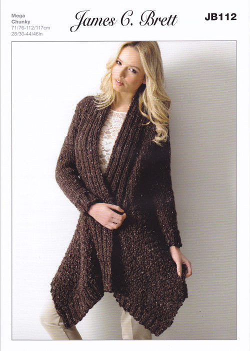 Beautiful James C Brett Rustic Mega Chunky Knitting Pattern La S Long Cardigan Knitting Pattern Of Adorable 44 Models Long Cardigan Knitting Pattern