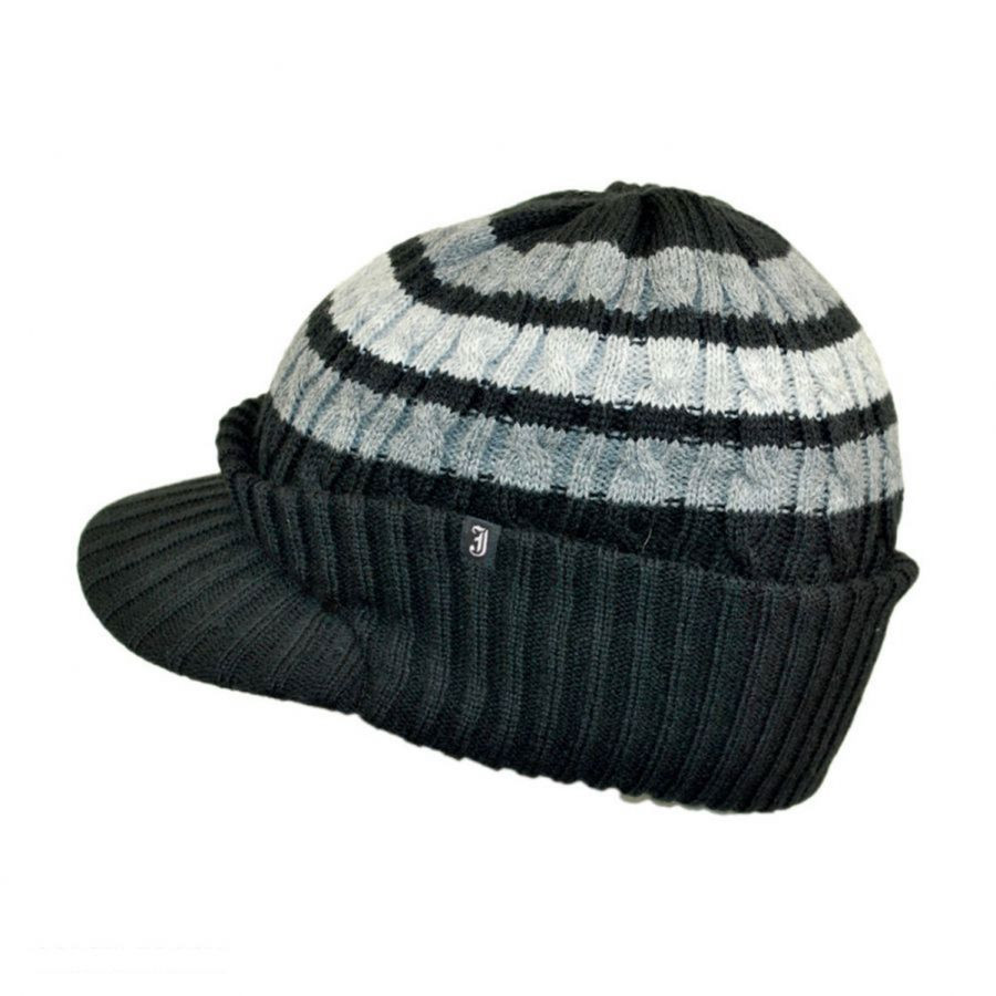 Beautiful Jaxon Hats Striped Cable Knit Visor Beanie Hat Beanies Cable Hat Of Superb 40 Pictures Cable Hat