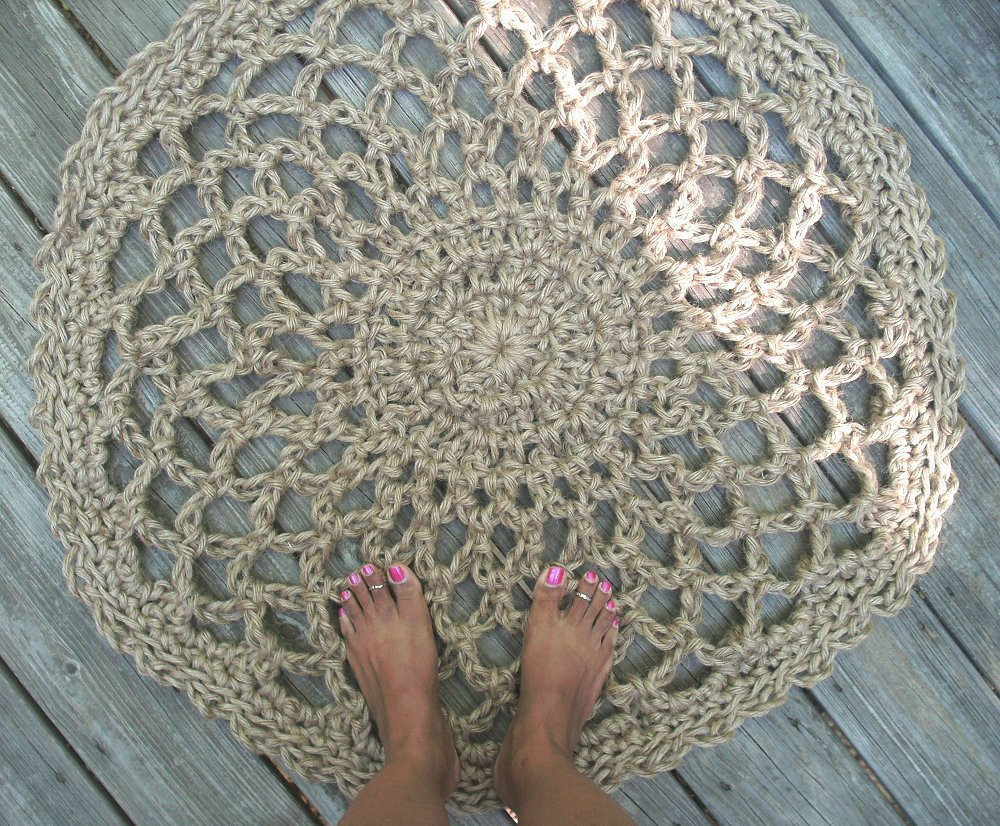 Beautiful Jute Cord Round Crochet Rug Lacy Doily 32 Crochet Cords Of Attractive 49 Ideas Crochet Cords