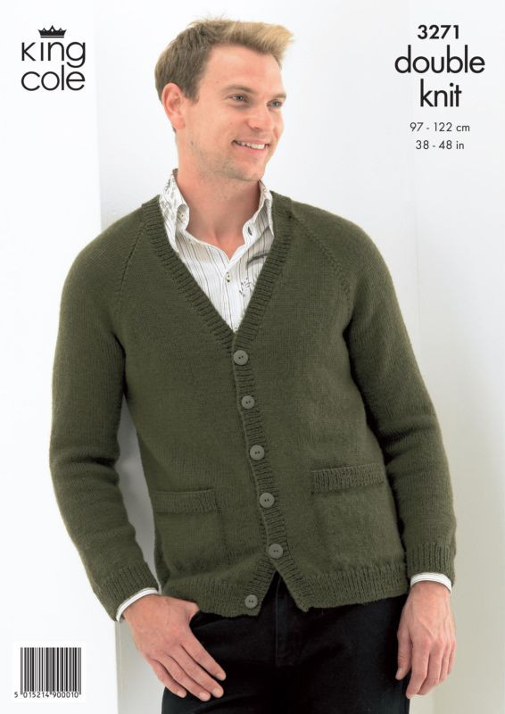 Beautiful King Cole Sweater and Cardigan Mens Knitting Pattern 3271 Mens Cardigan Knitting Pattern Of Unique 44 Models Mens Cardigan Knitting Pattern