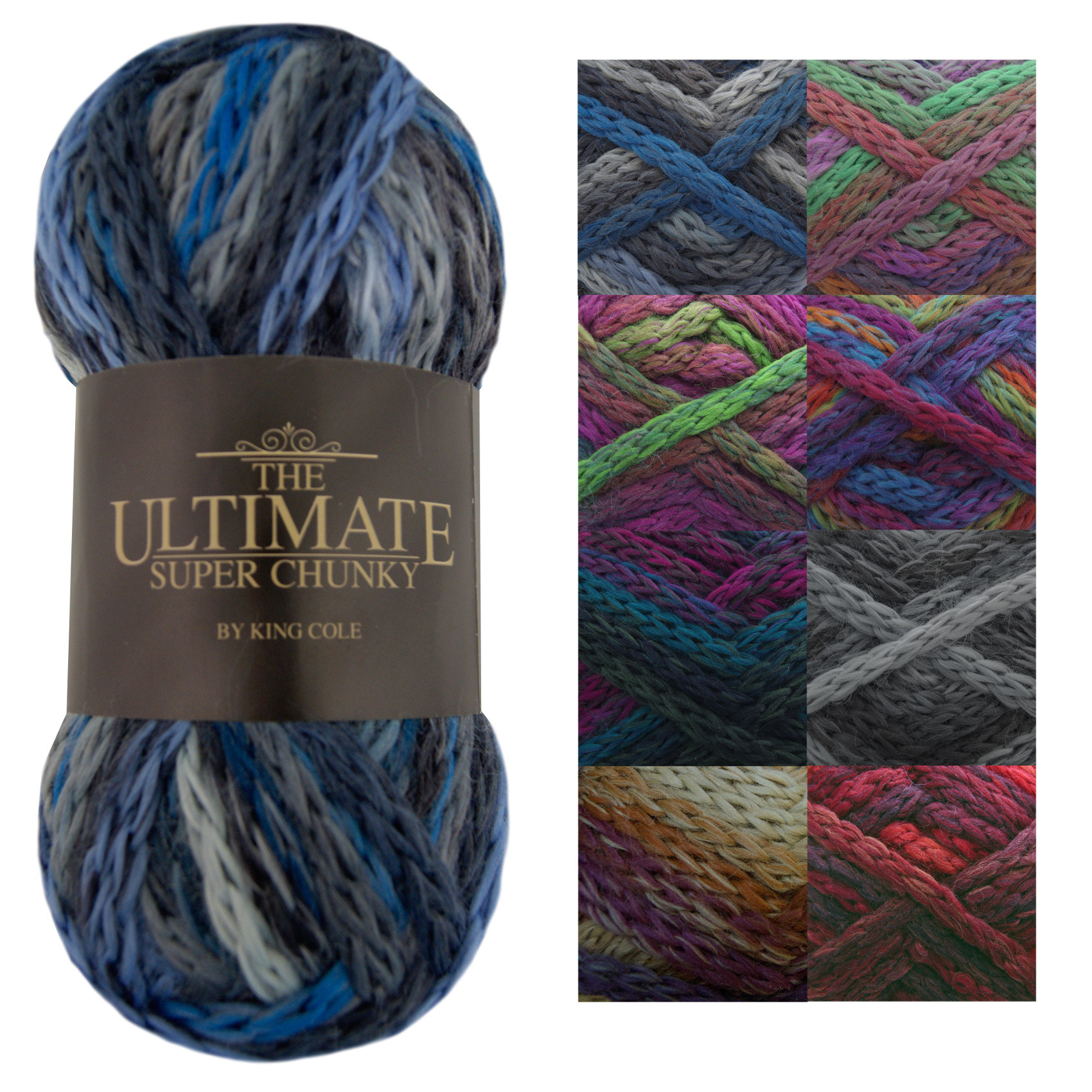 King Cole Ultimate Super Chunky Knitting Yarn Soft Knit