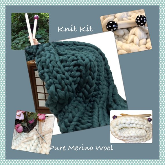 Beautiful Knit Kitcolor Choice Chunky Blanket 24 Needles4 4 Chunky Knit Blanket Kit Of Amazing 46 Images Chunky Knit Blanket Kit