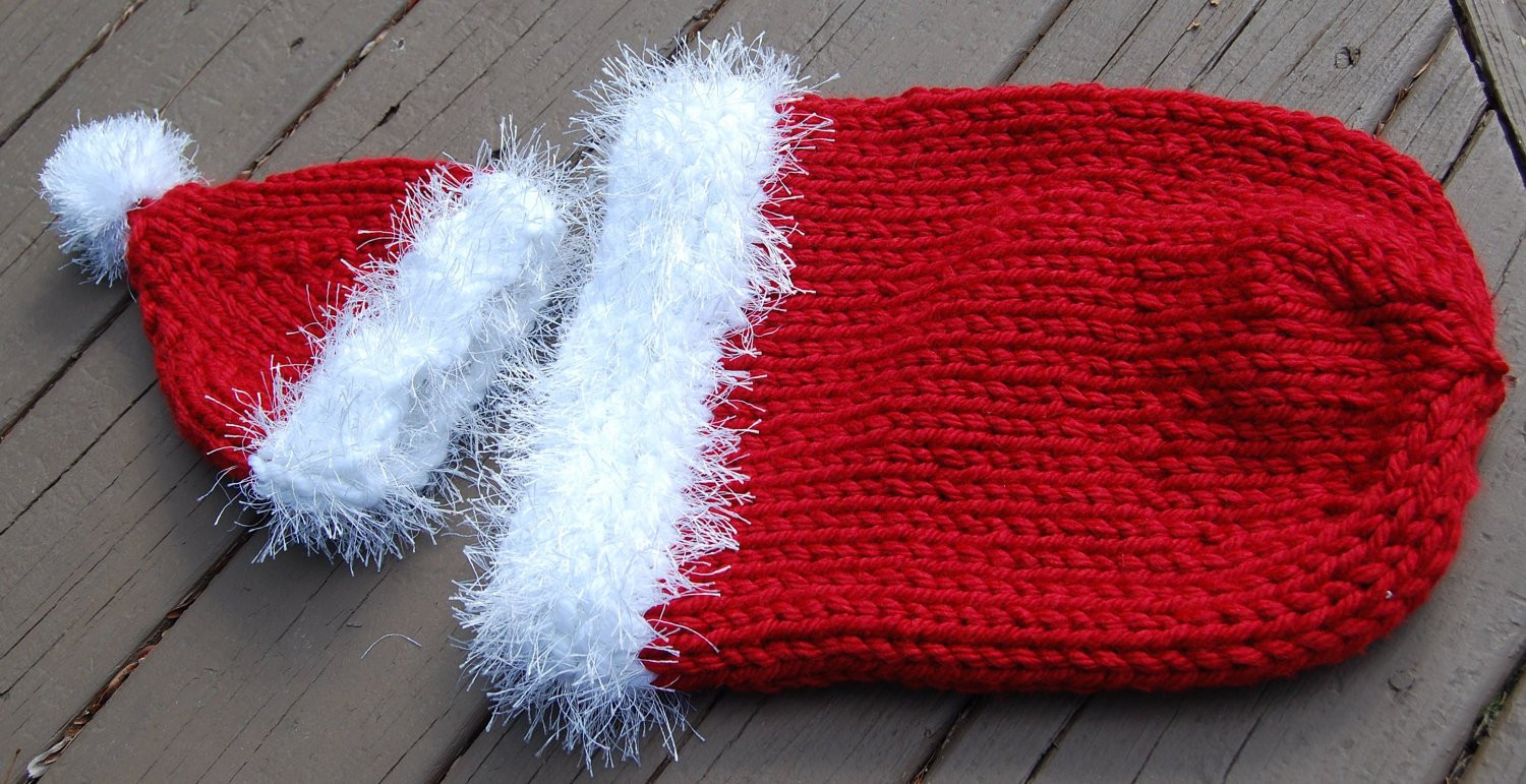 Beautiful Knit Santa Cocoon and Hat Pattern Knitted Santa Hat Of Fresh 50 Photos Knitted Santa Hat