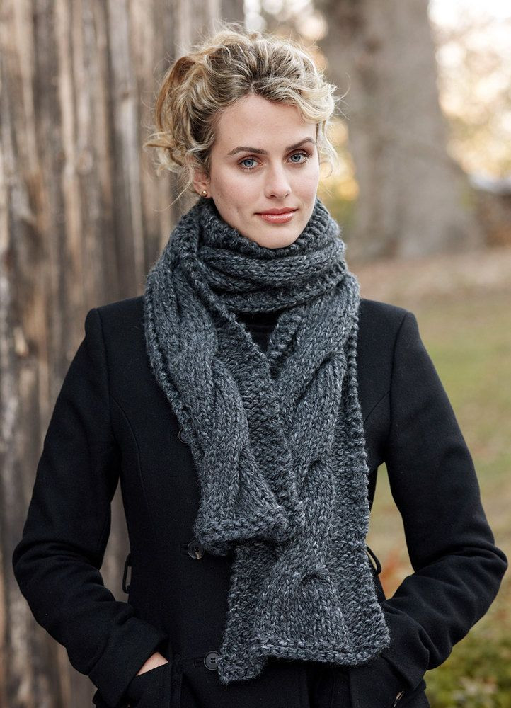 Beautiful Knitted Cable Panel Scarf In Lion Brand Wool Ease Thick Cable Scarf Pattern Of Attractive 46 Pics Cable Scarf Pattern