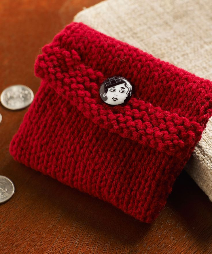 Beautiful Knitted Change Purse Easy Project for Beginners Hold Free Knitting Patterns for Beginners Of New 40 Models Free Knitting Patterns for Beginners