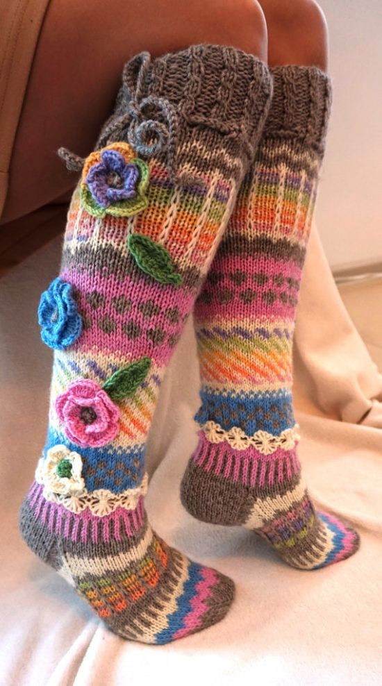 Beautiful Knitted Knee High socks Pattern Check Out All the Ideas Crochet socks Of Gorgeous 42 Photos Crochet socks