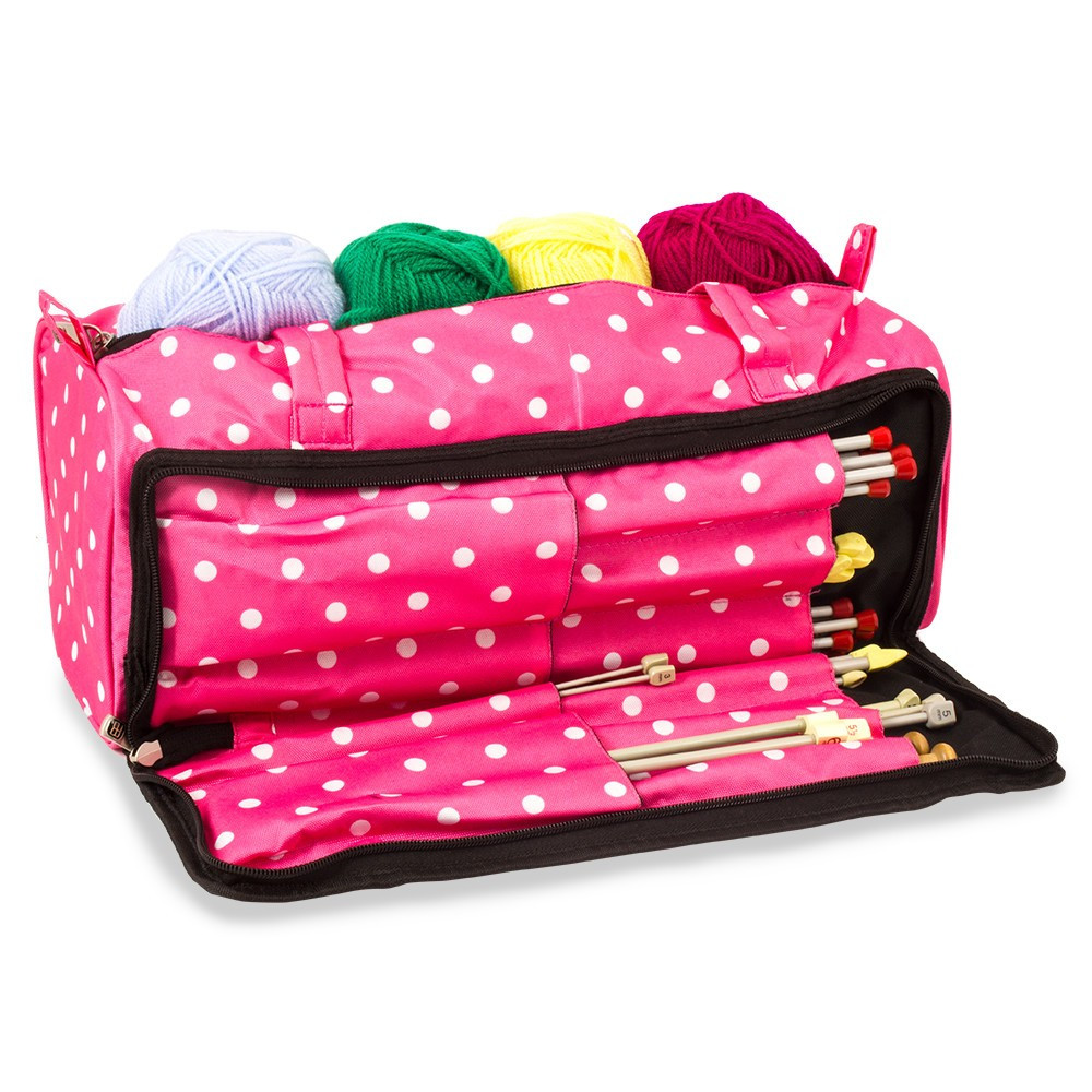 Beautiful Knitting and Sewing Storage Bag Pink Polka Dot Knitting Knitting Bags and totes Of Marvelous 48 Ideas Knitting Bags and totes