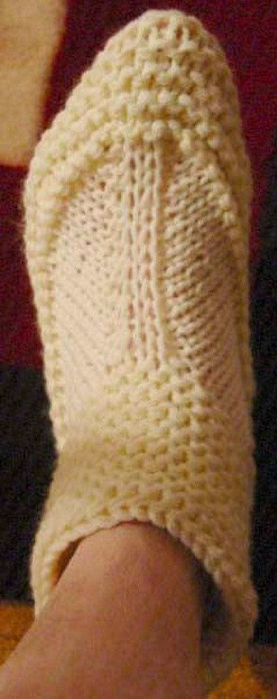 knitting pattern bootie slippers adult