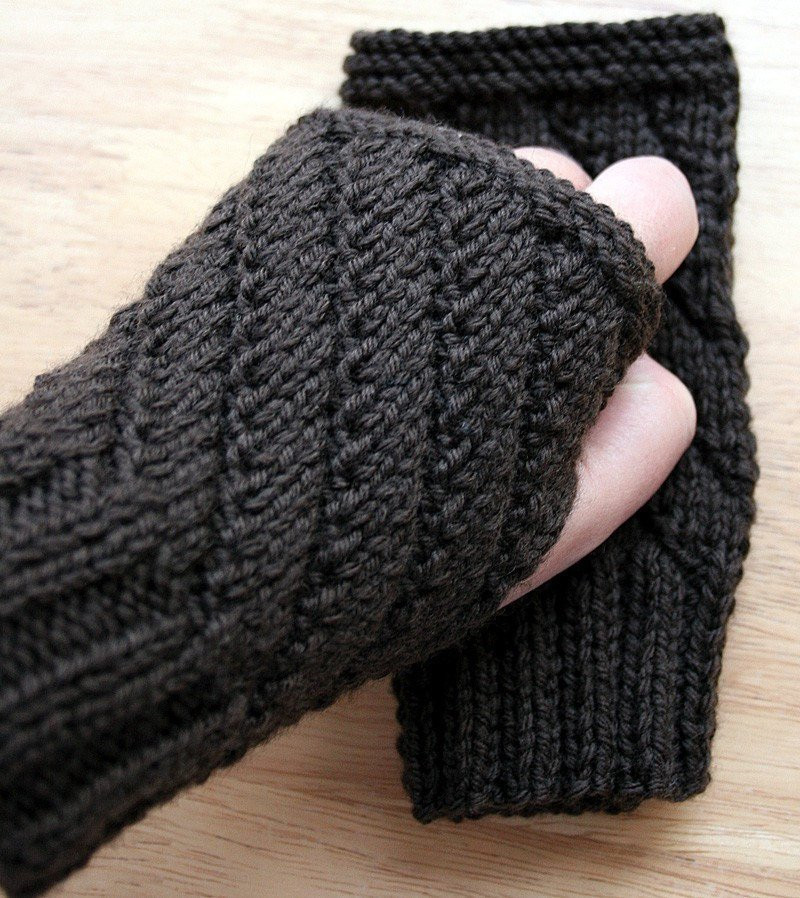 KNITTING PATTERN Fingerless Gloves Knitting Pattern Uni