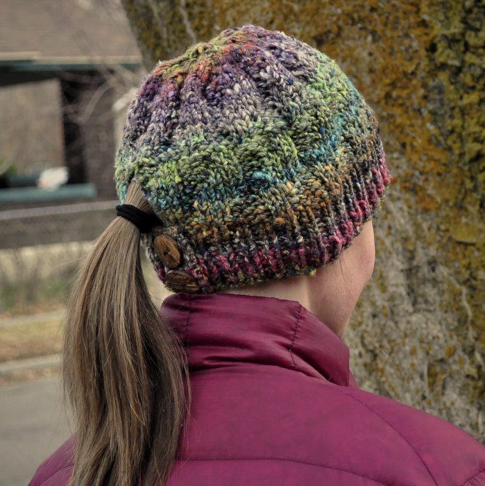 Beautiful Knitting Pattern Japanese Dream Hat — Baste Gather Ponytail Knit Hat Of Top 46 Pictures Ponytail Knit Hat