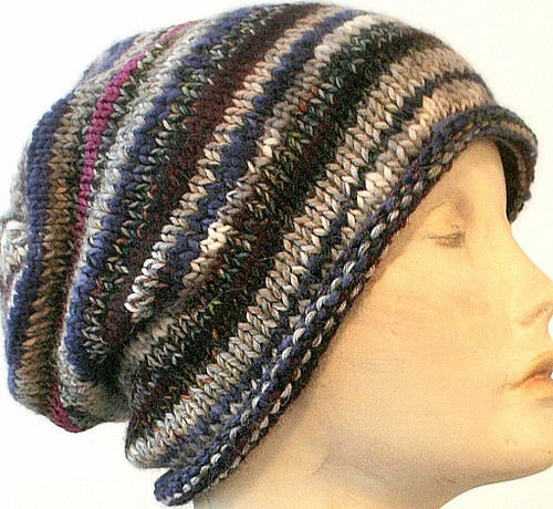 Knitting Patterns Galore Easy Scrap Buster Slouch Hat