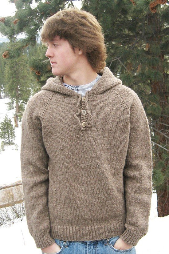 Knitting Pure and Simple Pattern 0105 Neckdown Hooded