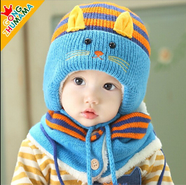 Beautiful Korean Children Hat Scarf Two Piece Sets Boys and Girls Children's Scarves Of New 48 Pictures Children's Scarves