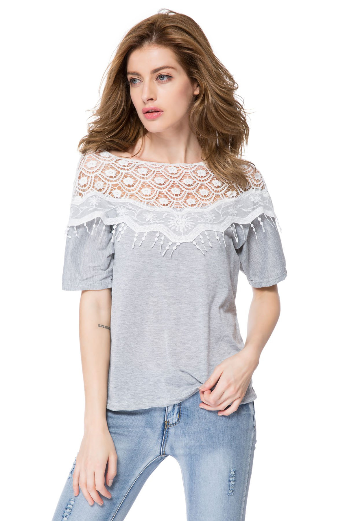 Beautiful Lace Cutout Shirt Women Handmade Crochet Cape Collar Crochet Shirts Of Brilliant 43 Ideas Crochet Shirts