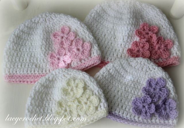 Beautiful Lacy Crochet Baby Hat with Three Flowers Pattern Giveaway toddler Crochet Hat Pattern with Flower Of Luxury 50 Ideas toddler Crochet Hat Pattern with Flower