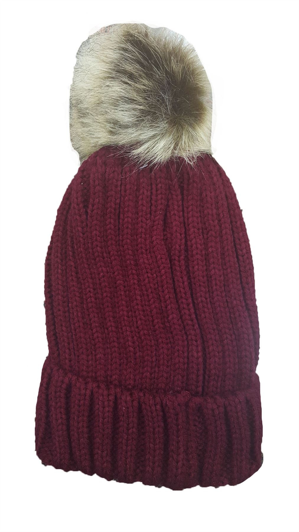Beautiful Ladies Ribbed Knit Winter Beanie Turn Up Hat with Fur Pom Ladies Knitted Hats Of Adorable 50 Pictures Ladies Knitted Hats