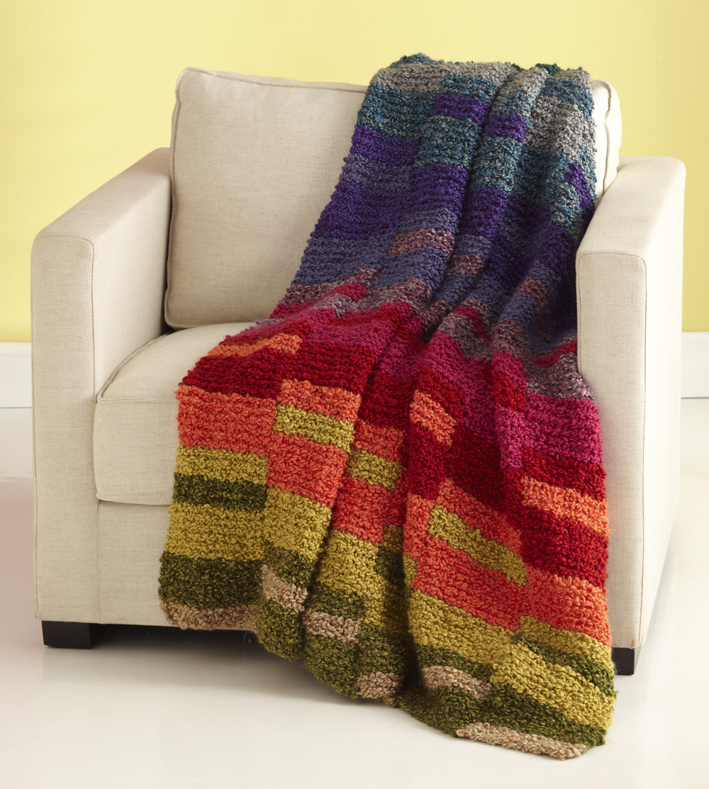 Beautiful Light Spectrum Afghan Easy Knit Afghan Of Contemporary 50 Ideas Easy Knit Afghan