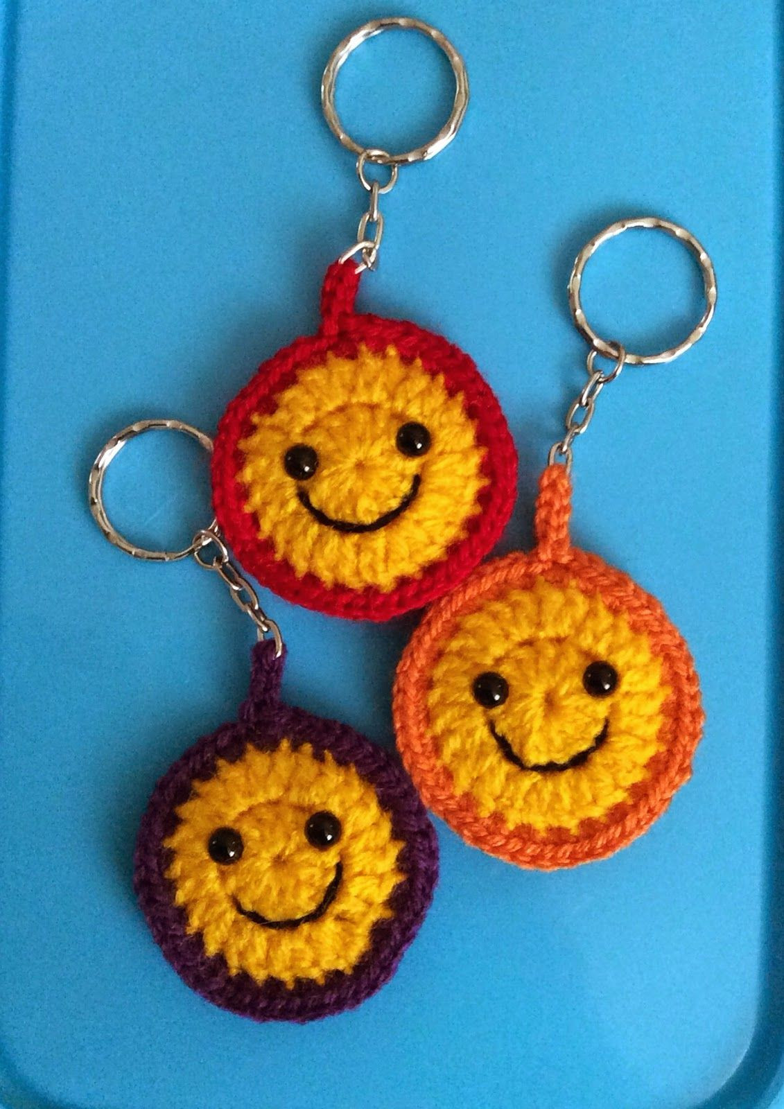 Beautiful Lonemer Creations Smiley Keyring Pattern Crochet Keychains Of Fresh 49 Ideas Crochet Keychains