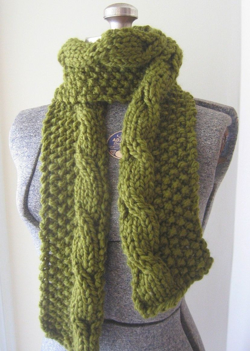 Beautiful Long Cabled Chunky Knit Scarf Pdf Pattern Via Etsy Chunky Knit Scarf Pattern Of Adorable 50 Ideas Chunky Knit Scarf Pattern