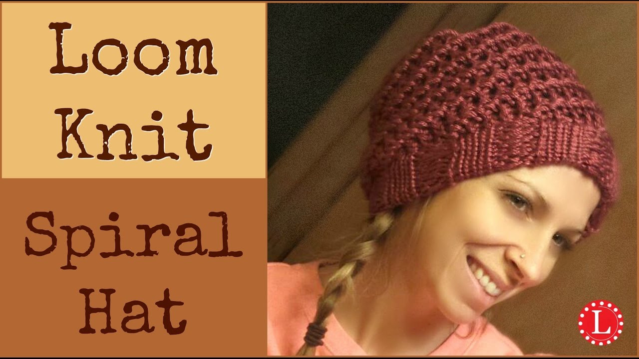 Loom Knit Hat Easy Spiral Hats Step by Step for