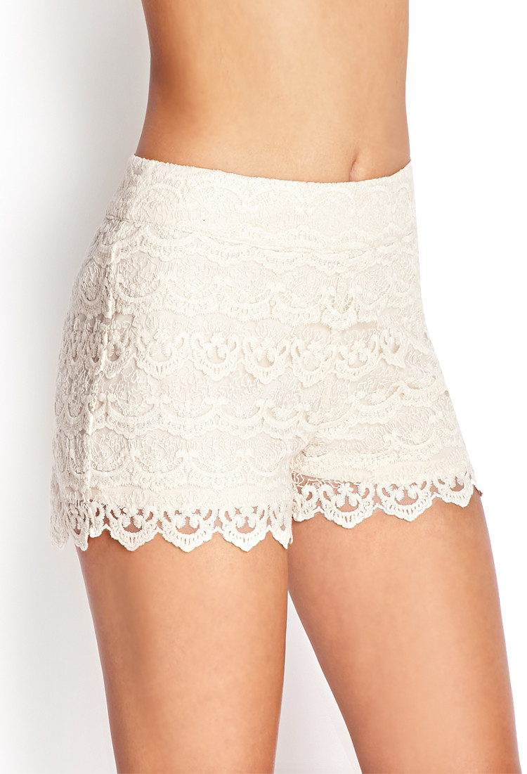 Beautiful Lyst forever 21 Crochet Lace Shorts You Ve Been Added to Crochet Lace Shorts Of Unique 47 Photos Crochet Lace Shorts