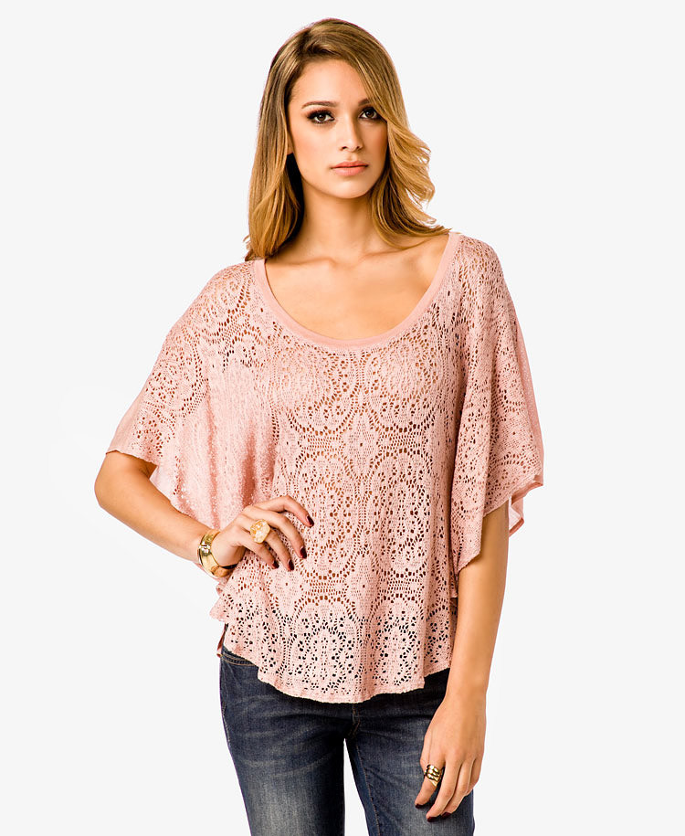 Beautiful Lyst forever 21 Flowy Crochet top In Pink Crochet tops forever 21 Of Amazing 46 Pics Crochet tops forever 21