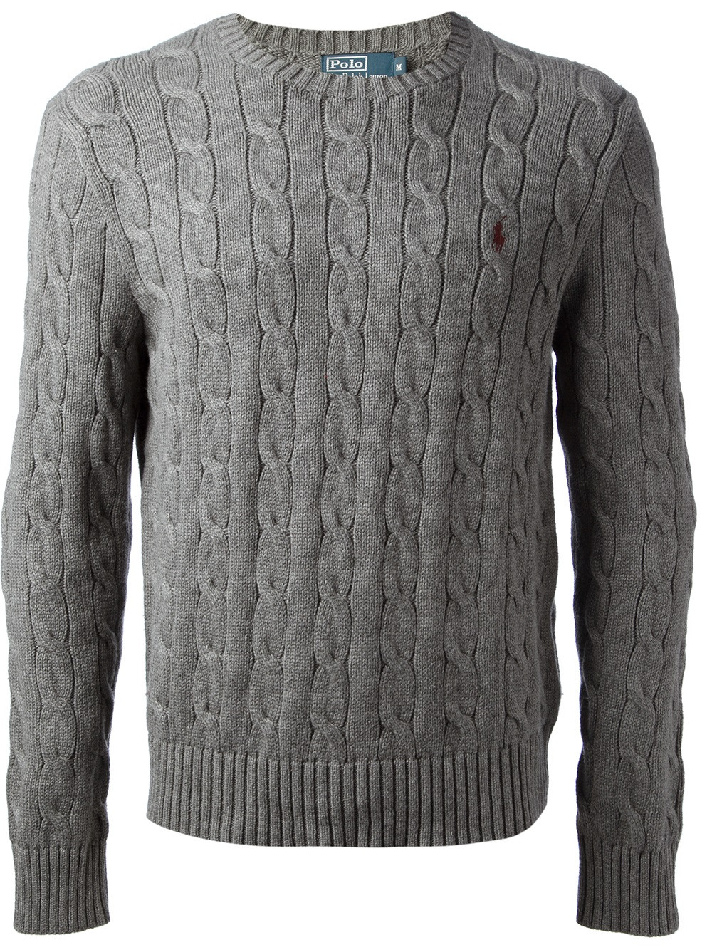 Lyst Polo Ralph Lauren Cable Knit Sweater in Gray for Men