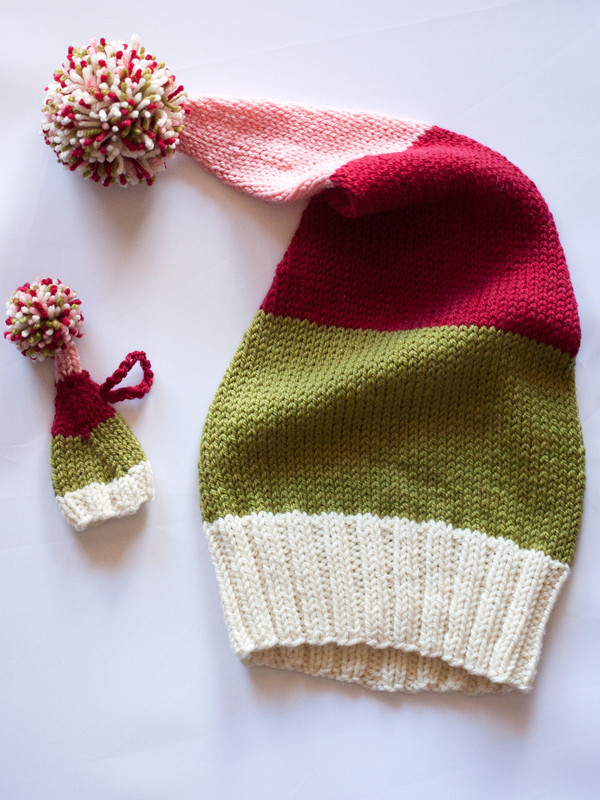 me and the tree pdf stocking hat knitting pattern