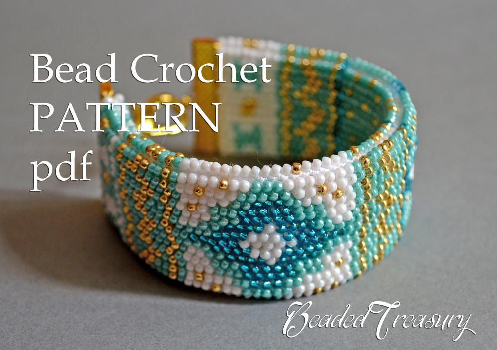 Beautiful Mediterranean Breeze Bead Crochet Bracelet Pattern Crochet Beaded Bracelet Pattern Of Brilliant 49 Images Crochet Beaded Bracelet Pattern