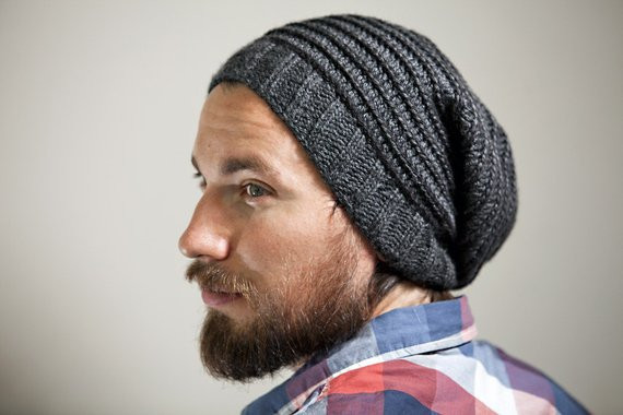 Beautiful Men S Knit Crochet Slouchy Hat In Charcoal with Spiral Mens Knit Hat Pattern Free Of Incredible 50 Pictures Mens Knit Hat Pattern Free