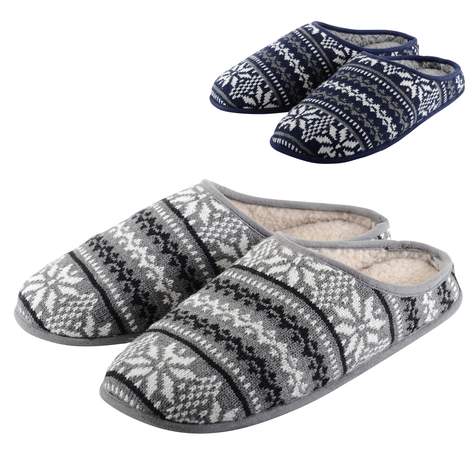 Beautiful Mens Slippers Fairisle Knit Mule with Faux Sheepskin Mens Knitted Slippers Of Incredible 44 Pictures Mens Knitted Slippers