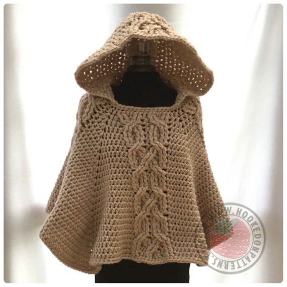 Beautiful Milena Twist Cable Hooded Poncho Crochet Pdf by Crochet Poncho with Hood Of Fresh 40 Pictures Crochet Poncho with Hood