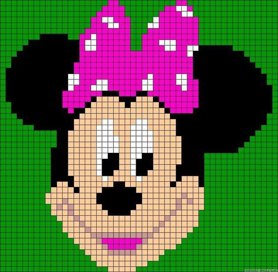 Minnie mouse c2c graphgan pattern crochet graph perler