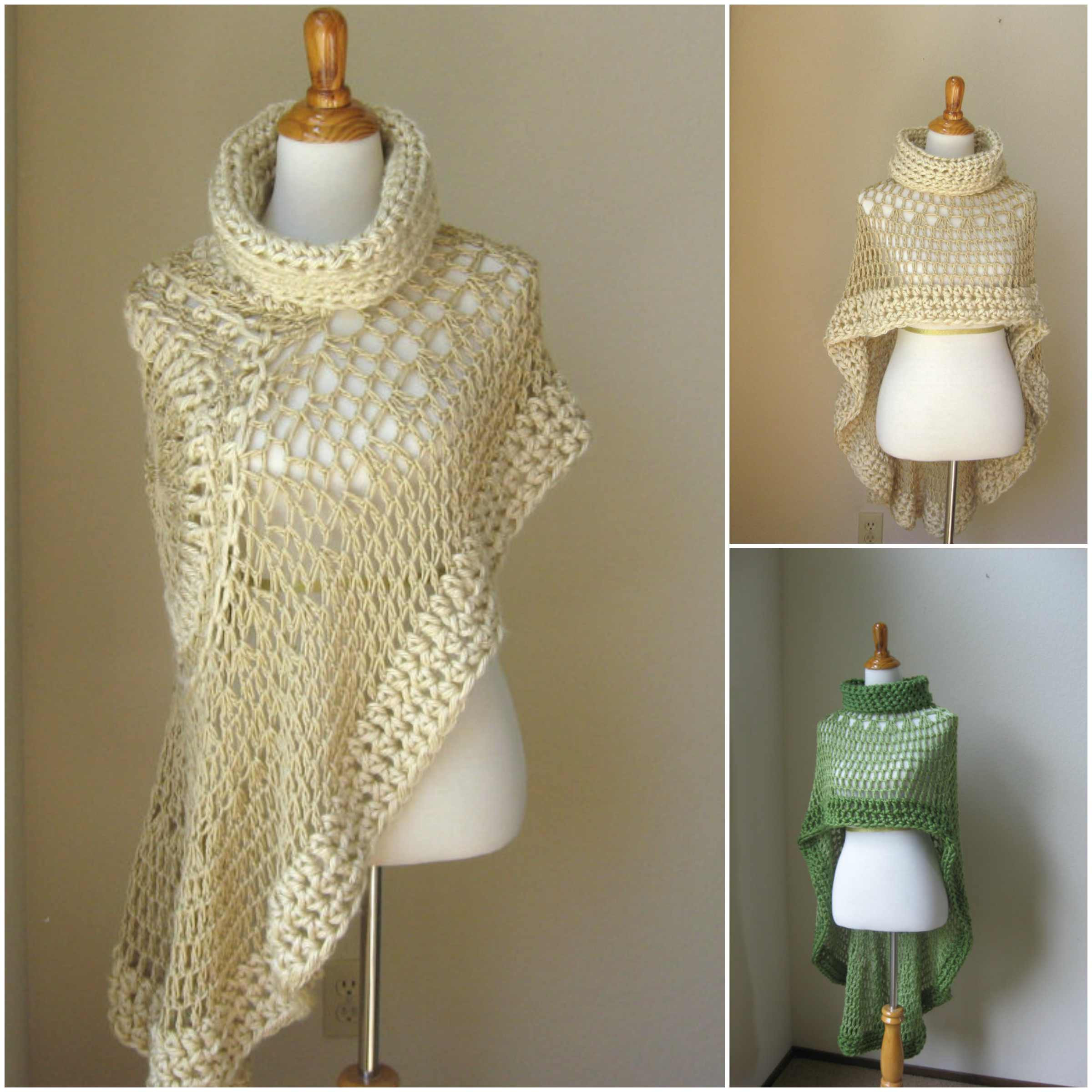 Beautiful Miracle Angel Crochet Poncho with A Scarf [free Pattern Crochet Cape Pattern Of Wonderful 49 Models Crochet Cape Pattern